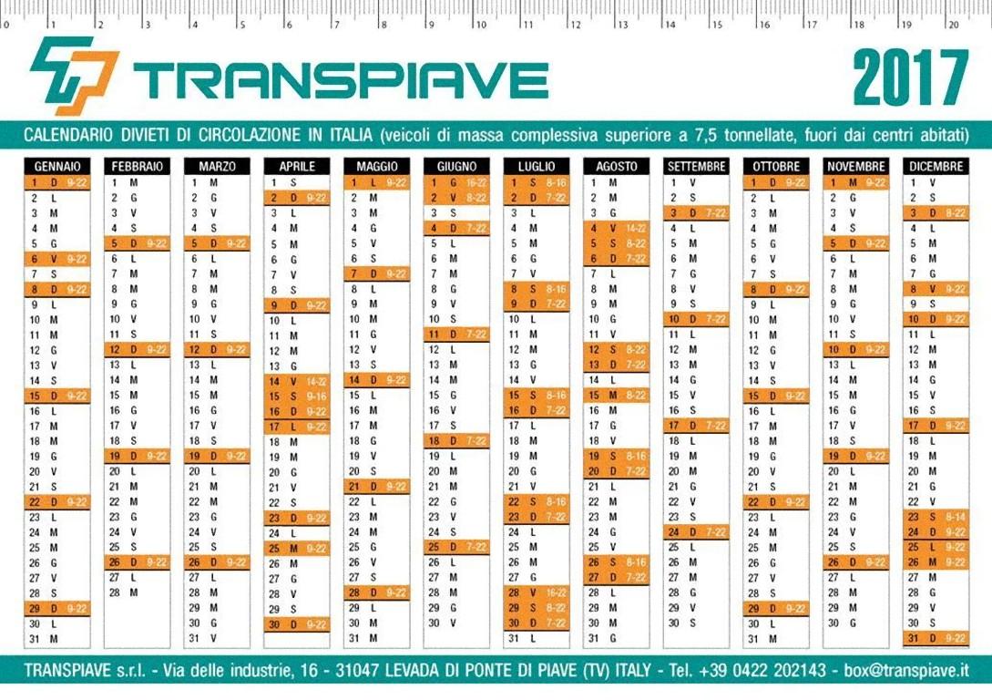 Calendario Circolazione Autocarri 2019.Blocco Mezzi Pesanti Come Funziona
